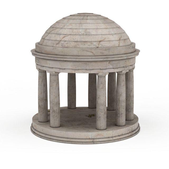 Memorial pavilion 3d rendering