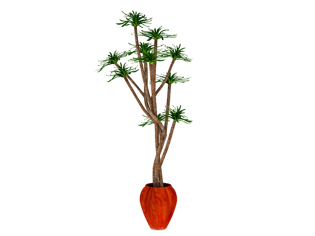 Potted trees for indoor 3d rendering