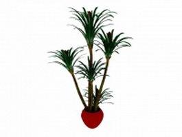 Potted landscape palm tree 3d preview