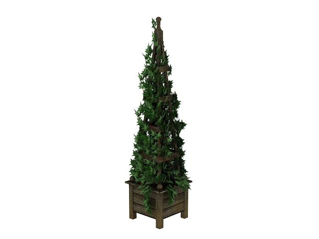 Vine planter tower 3d rendering