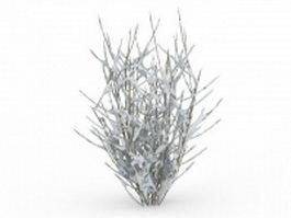 Winter shrub 3d model preview