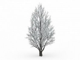 Winter tree 3d preview