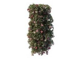 Vine flower pergola 3d model preview