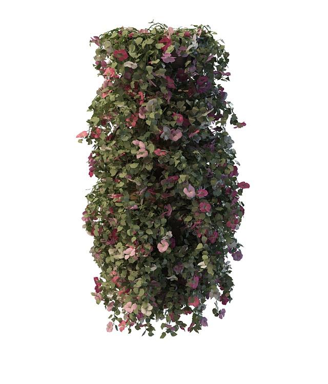 Vine flower pergola 3d rendering