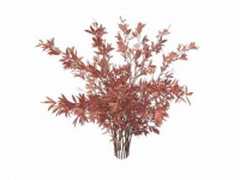 Pink shrub for landscaping 3d model preview