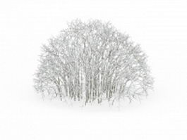 Snow covered shrubs 3d preview