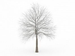 Frosted tree 3d model preview