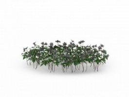 Landscape flowers plants 3d model preview
