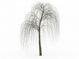 Bare willow tree 3d preview