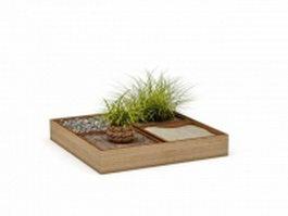 Garden planter box 3d preview