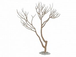Dead and dry tree 3d model preview