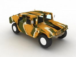 Humvee military camouflage 3d preview