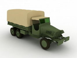 GMC military truck 3d preview