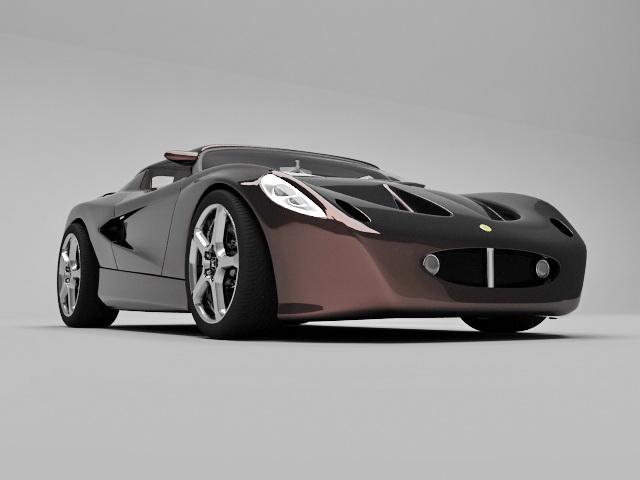Lotus Evora sports car 3d rendering