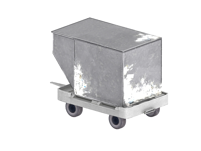 Air cargo container and trailer 3d rendering