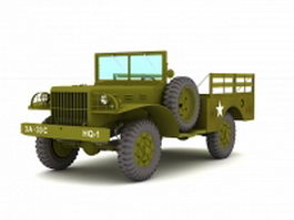 Dodge WC-51 light military truck 3d preview