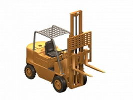 Electric forklift industrial truck 3d preview