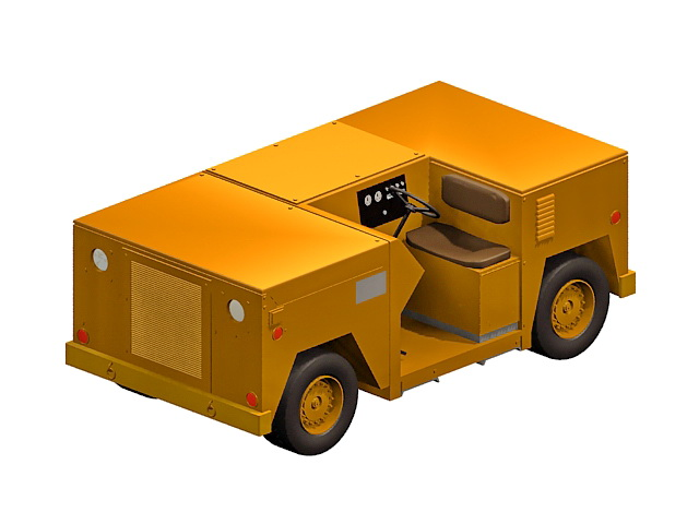 Flight Deck Epu Tractor 3d Model 3ds Max Files Free