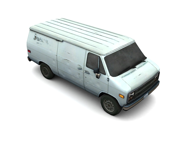 Old Van 3d rendering