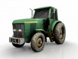 Broken tractor 3d model preview