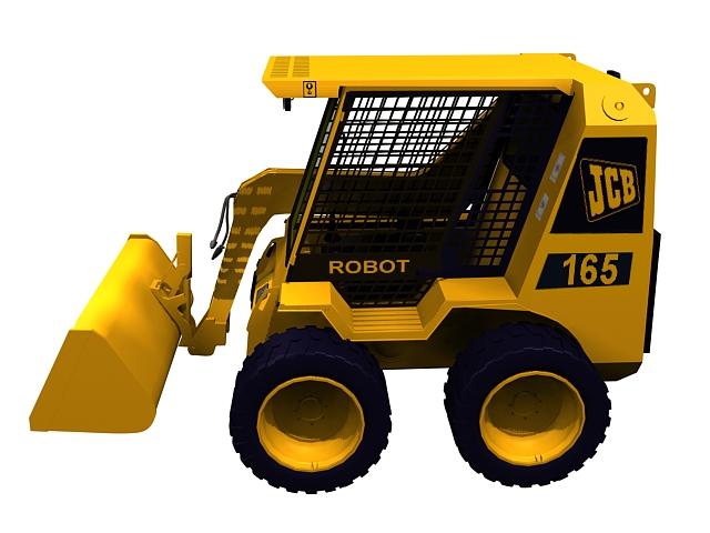Armored wheel loader 3d rendering