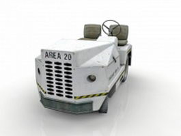 Airport baggage towing tractor 3d preview