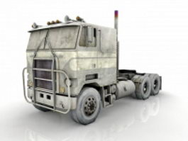 Flat nose truck 3d preview