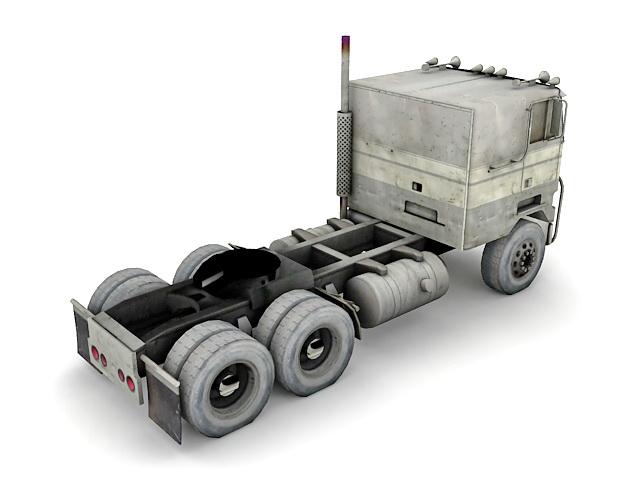 Flat nose truck 3d rendering