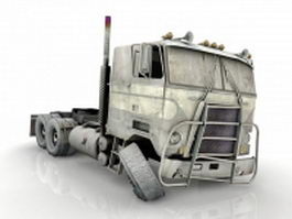Wrecked truck 3d preview