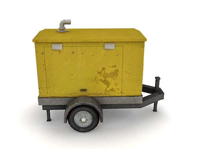 Generator trailer 3d rendering