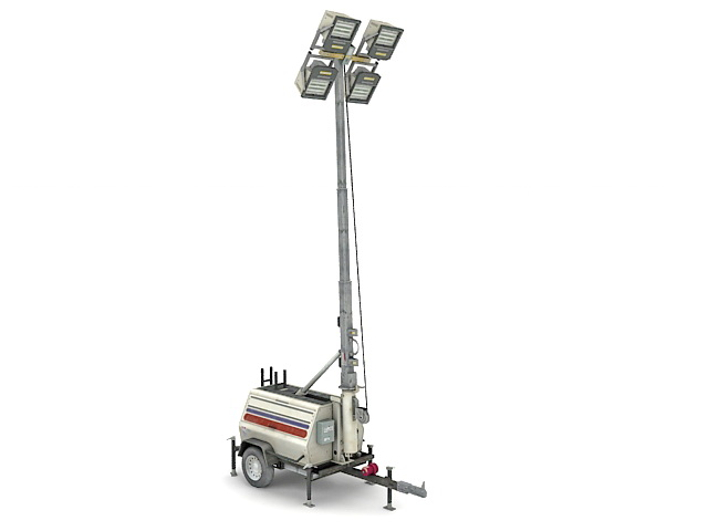Light tower generator 3d rendering