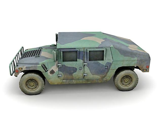 Military Humvee 3d rendering