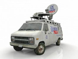 News Van 3d model preview