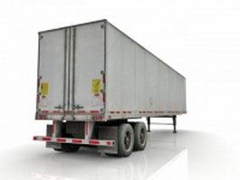Standard truck trailer 3d preview