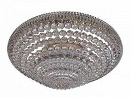 Crystal flush ceiling light 3d preview