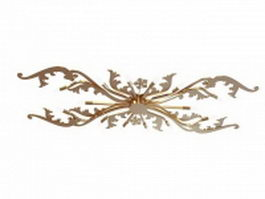 Brass branch wide ceiling lights 3d preview