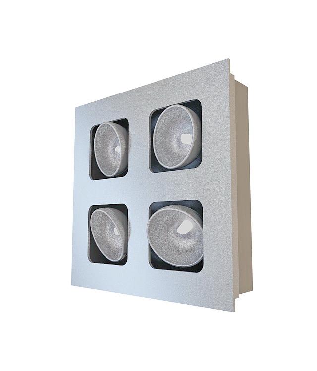 Bathroom heat lamp fixture 3d rendering