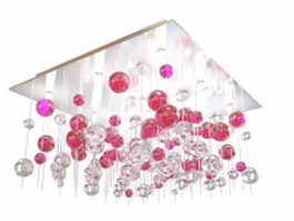 Crystal ball ceiling light 3d model preview