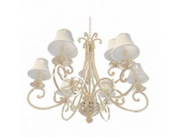 Modern neoclassical chandelier 3d model preview