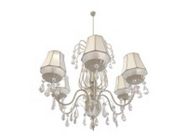 Winter palace chandelier 3d model preview