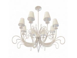 Dining room chandelier 3d model preview