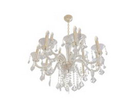 Antique crystal chandelier 3d preview