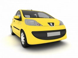 Peugeot 107 facelift 3d preview