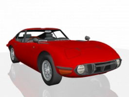 Toyota 2000GT sports car 3d model preview