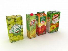 Juice boxes design 3d preview
