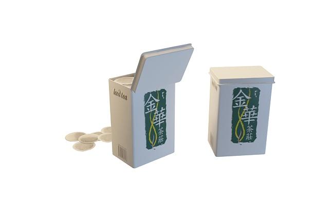 Chinese tea boxes & tea bags 3d rendering