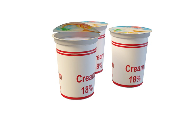 Fresh cream 3d rendering