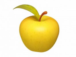 Yellow apple fruit 3d preview