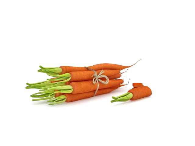 Carrot vegetable 3d rendering