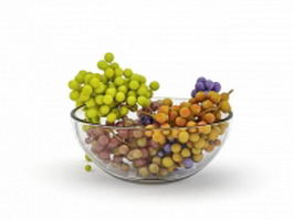 Bowl of grapes 3d preview